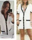 ZARA PREPPY OVERSIZE GOLD BUTTON KNIT LONG LINE CARDIGAN WITH VENTS JACKET DRESS