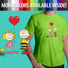 Peanuts Charlie Brown Valentine's Day Sally Cartoon Unisex Mens Tee Crew T-Shirt image