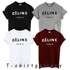 Celine Paris Women Men Party Fashion White T Shirt Rihanna Swag Party Gift Top