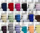 Plain Dyed Pollycotton Percale Easy Care Fitted sheets in 19 Colours and 4 Sizes