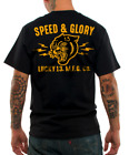 Lucky 13 Men's T shirt Panther Head Speed Glory Hot Rod Motorcycle S - 4XL image