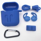 Strap Holder & Silicone Case Cover For Apple AirPod Air Pod Accessories AirPods
