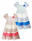 Girls Dresses New Kids Gypsy Summer Short Sleeved 100% Cotton Dress 2-10 Years