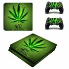 Weed Vinyl Slim Sticker For Sony Playstation 4 Console+ Controller Skin Sticker