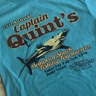 Captain Quint's Memorial Shark Fishing Tournament T Shirt JAWS Amity Island