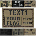 Custom Big 3x5 Patch Your Flag & Texts Army Military Morale Police EMS SWAT #CST