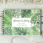 Personalised Wedding Guest Book Tropical Leaves, Photo Album, Blank Book