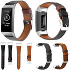 Replace Soft Leather Bracelet Band Strap Wrist for Fitbit Charge 3 & 3SE Watch