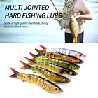 13.28cm Multi Lures Plastic 3D Fish Eyes Multi Jointed Hard Fishing Lure 6 Hooks
