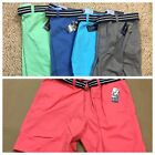 "New NWT mens club room 9"" estate shorts with canvas belt 6"