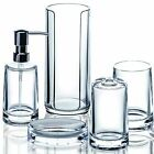 Serene - Clear Acrylic 5pc Modern Bathroom Accessory Set
