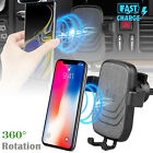 Wireless Car Charger Gravity Air Vent Fast Charging Mount Phone Holder Bracket