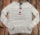 Buffalo David Bitton Taupe White Sweater Pullover Soft Womens Size M or L