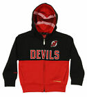 Reebok NHL Youth New Jersey Devils Drop Pass Full Zip Hoodie $16.99 USD on eBay