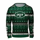 Forever Collectibles NFL Men's New York Jets Hanukkah Ugly Crew Neck Sweater $44.99 USD on eBay