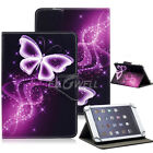 """US For 7"""" 8"""" 10.1"""" Tablets Purple Butteryfly Universal Leather Case Stand Cover"""