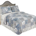 Beautiful Reversible Alice Floral Patchwork Quilt Bedding with Scalloped Edges image
