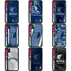 OFFICIAL NBA MEMPHIS GRIZZLIES BLACK HYBRID GLASS BACK CASE FOR iPHONE PHONES on eBay