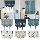 Embroidered Roman Blinds Window Kitchen Half Blackout Tie Up Curtain Screen