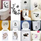 Durable Bathroom Toilet Decoration Seat Art Wall Stickers Decal Home Decor Tyuk