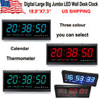 Digital Large Big Jumbo LED Wall Desk Clock W/ Calendar Temperature Home Office