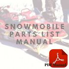Yamaha 1978-1987 ET340 Enticer Snowmobile Part List or Owner's Service CD Manual
