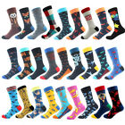men's Combed Cotton Socks Animal Pattern Long Tube Funny Crew Casual Crazy Socks