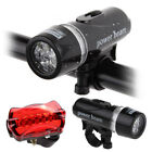 HOT 5LED Waterproof Mountain Bike Bicycle Cycling Front Rear Lights Super Bright