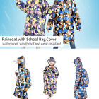 Raincoat Children Baby Kids Thicken Rainwear Waterproof with School Bag Cover