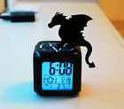 Flying Dragon Witch Queen 3D Digital Alarm Clock Color Changing LED Timepieces