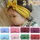 2 Baby Kid Girl Hair Band Nylon Stretch Bow-knot Party  Hair Accessories