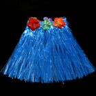 KIDS BOYS GIRLS HAWAIIAN HULA GRASS BEACH ELASTIC SKIRT FLOWER PARTY DRESS BOWL