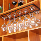Under Cabinet Stemware Hanging Wine Glass Rack Holder W/ Screws Home Bar Decor