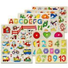 Alphabet Number Puzzle Kids Learning Wooden ABC Letters Educational Pre School