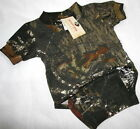 Mossy Oak Camo Baby Diaper Shirt, Infant Camouflage Snap Creeper