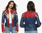 Hot Topic CAPTAIN MARVEL Faux Leather Bomber Moto Cosplay Jacket Womens XXL, 3XL