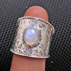 Oval Moonstone Gemstone cab 925 sterling silver solid Unisex Ring All Size us