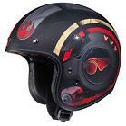 HJC IS-5 Star Wars Poe Dameron Black/Red 3/4 Open Face Motorcycle Helmet DOT