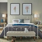 Iron Queen Metal Frame Bed Victorian Headboard Footboard Rustic Bedroom Furnitur