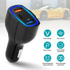 QC 3.0 Dual USB Fast Charging &USB-C Quick Car Charger for Samsung S8/9 iPhone X
