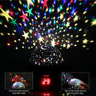 360° Rotation Star Moon Projection Night Lamp Kids Night Light LED Projector USA