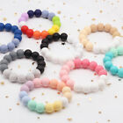 Multi Color Food Grade Silicone Chew Teething Beads Baby Teether Bracelet Toys