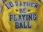 I'D RATHER BE PLAYING BALL Dog Jersey Shirt Wag-a-tude XXS XS S M L New Pet