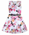 Girls Floral Skater Dress Kids New Summer Dresses Age 5 6 7 8 9 10 11 12 13 Year
