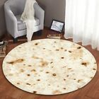 Round Burrito Blanket Rug Soft Flannel Anti-Slip Fleece Blanket for Adult kids image