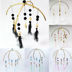 Natural Wooden Lace Beads Wind Bell Baby Room Mobile Cot Crib Bed Hanging Decor