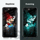Ultra Thin Glow In The Dark Luminous Tempered Glass Back Cover Case For iPhone X