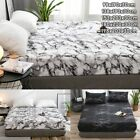 Marble Printed Bed Sheet Dustproof Mattress Cover Protector Bedspread Bed Covers image
