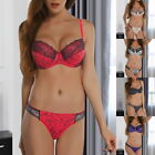 Women Sexy Bra Set Underwire Underwired Push Up Bra and Panties Lingerie Sets US