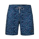 Men's Beach Pool Fast Dry Mesh Lining Animal Print Swim Trunks Outdoor Shorts